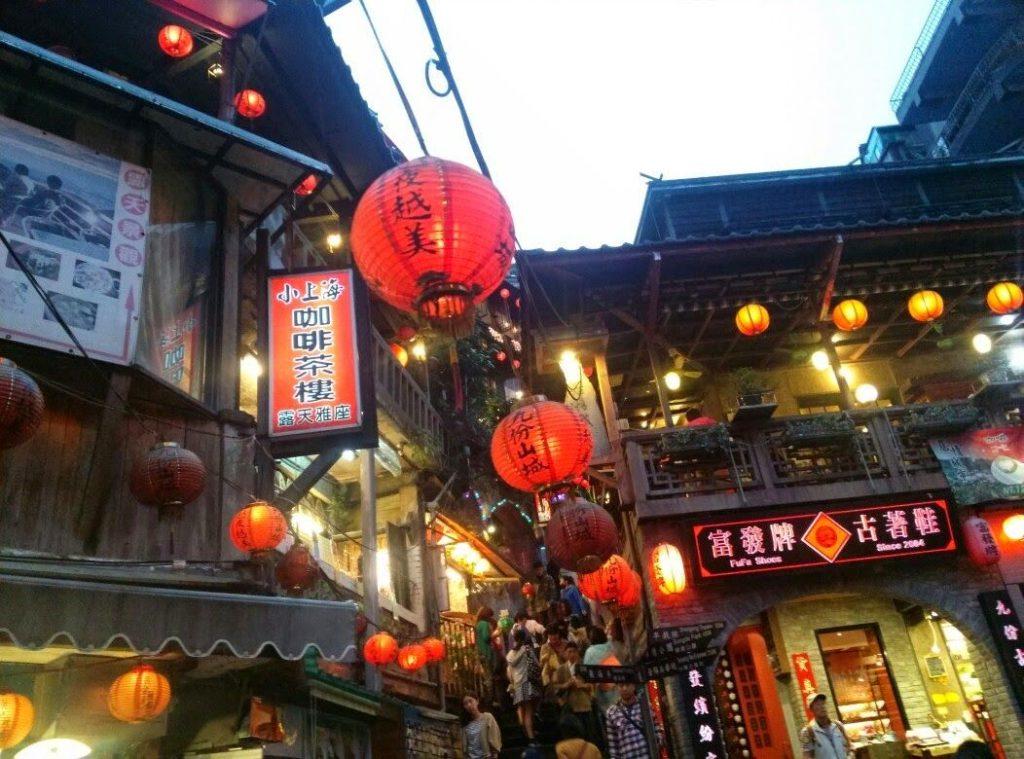 台北の有名観光スポット「九ふん」